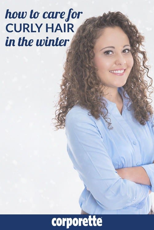 "What are the best tips for how to care for curly hair in the winter? We had a great discussion with the Corporette readers a long time ago, and thought we'd update it -- Kat shared her tips as a ""part-time curly,"" and other readers advised how to deal when it's freezing outside and you can't just quickly blowdry your hair like a straight-haired woman."