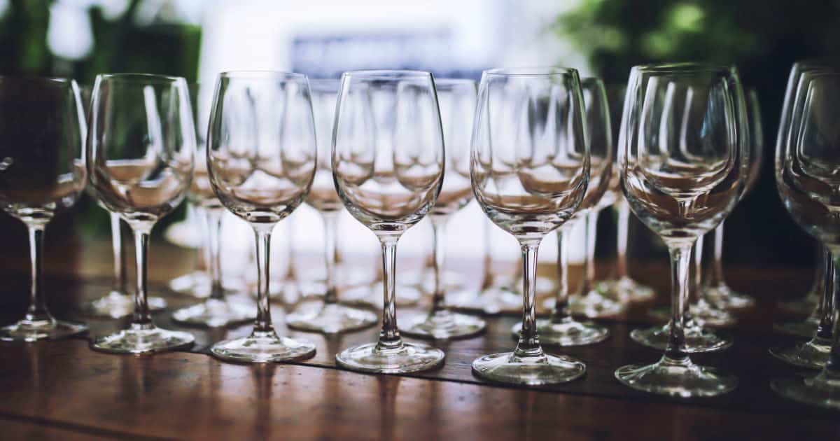 what to put on your wedding registry if you already have everything - image of wineglasses