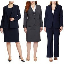 where to find stylish plus-size suits for work