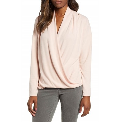 design mistakes for workwear - faux wrap tops
