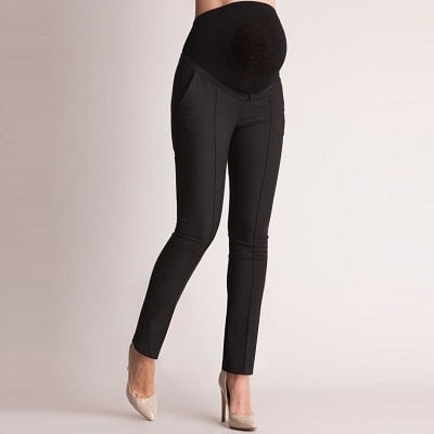 This image has an empty alt attribute; its file name is Seraphine-Tailored-black-maternity-pants-min.jpg