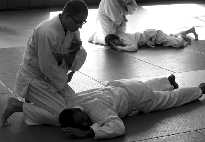 Pratiquants d'aikido