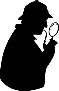 Dessin d'ombre de Sherlock Holmes