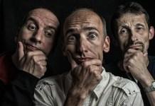 Trois hommes qui semblent intéressés et douteux