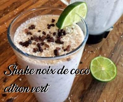 Shake noix de coco citron vert