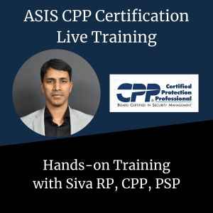 ASIS CPP Live Training - Corp Security Solutions