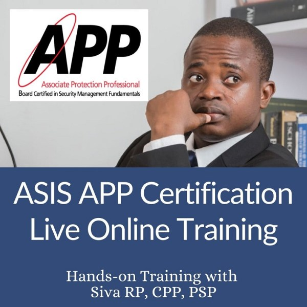 ASIS APP Certification Live Online Training
