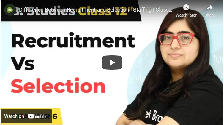 What is the difference between recruitment and staffing