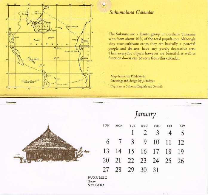 Sukumaland Calendar