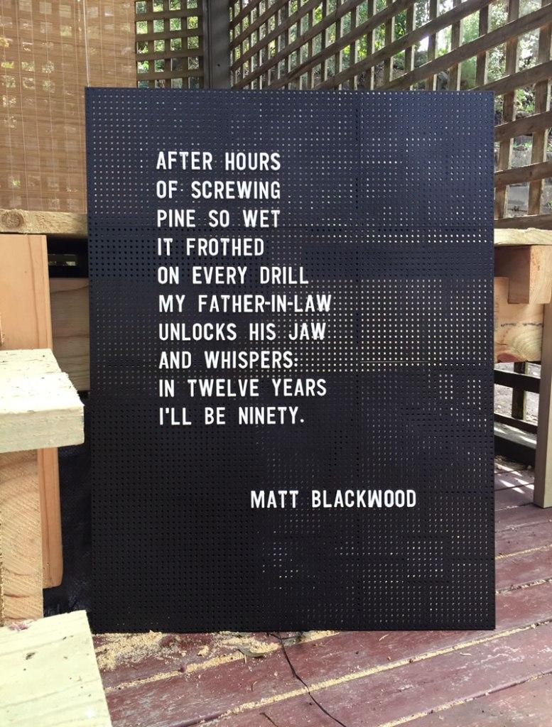 Pergola, Matt Blackwood