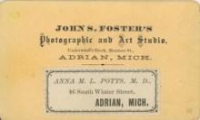 Potts rear of image - photographer detail