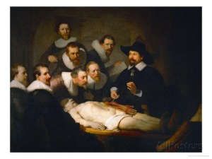 The Anatomy Lesson of Dr Nicolaes Tulp. Rembrandt, 1632.