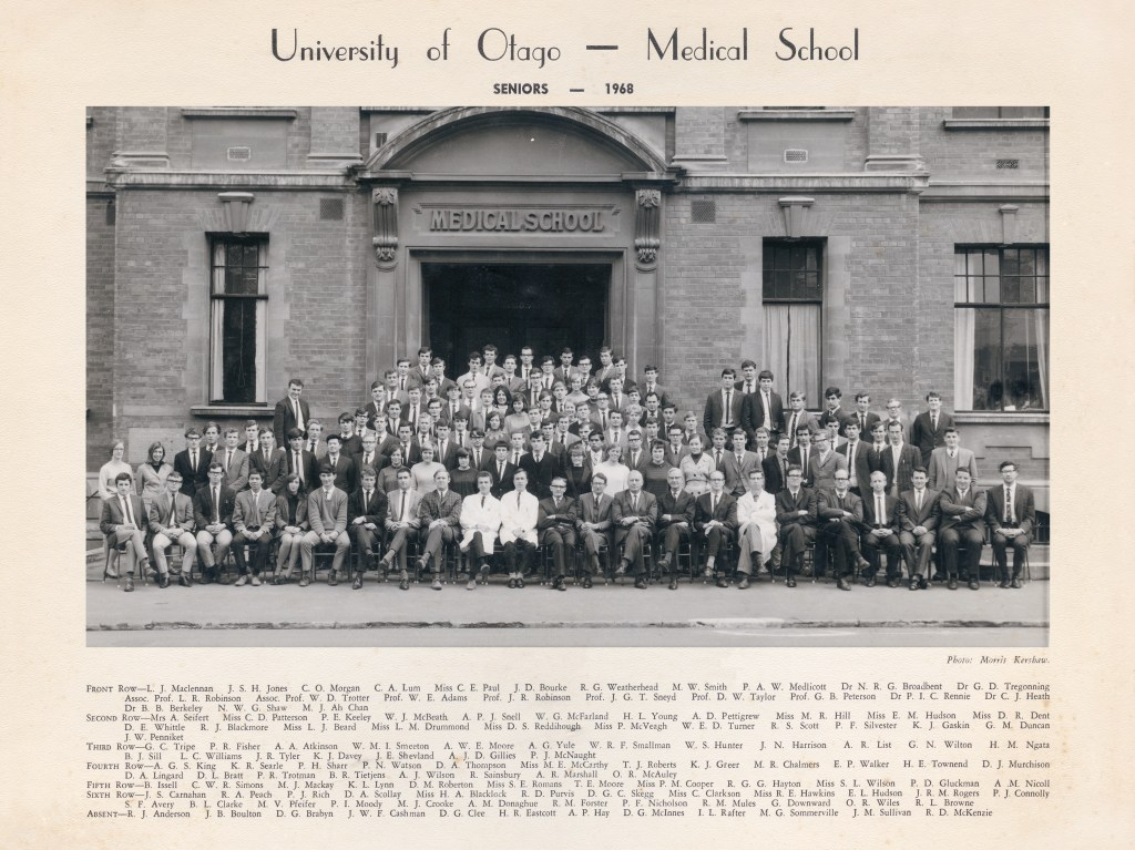 Otago Medical School seniors 1968