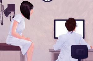 doctor and computer