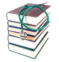 books-and-stethoscope