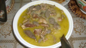 goat intestine soup