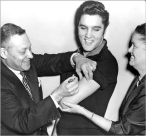 Elvis Presley Salk Vaccine 1956