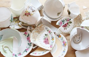 broken crockery