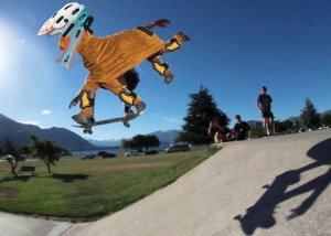 skateboarding panto horse
