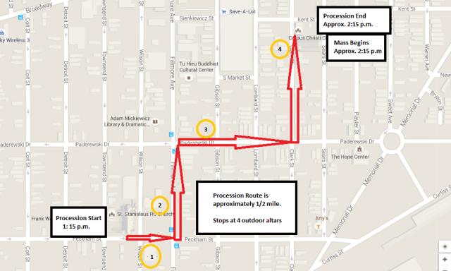 Corpus Christi Procession Route