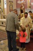 Parishiners of Corpus Christi welcomed Fr. General during the Mass for All Souls on November 2