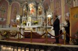 Jim Serafin welcomes Fr. General with bread and salt, as is the old custom in Poland, and other Slavic countries.