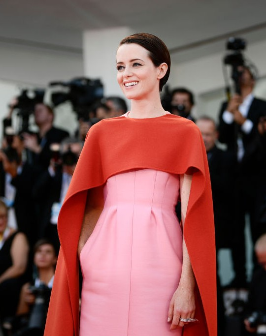 Claire Foy in Valentino Haute Couture, venice festival 2018