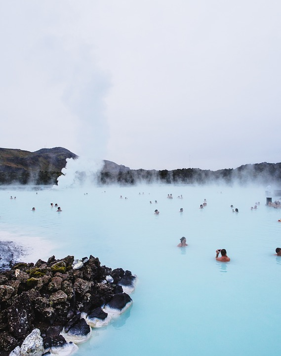 The Blue Lagoon hotspring in Iceland