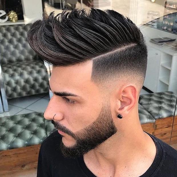 Banana mens haircut