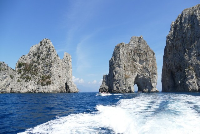 Stunning rock formations off the coast of Capri