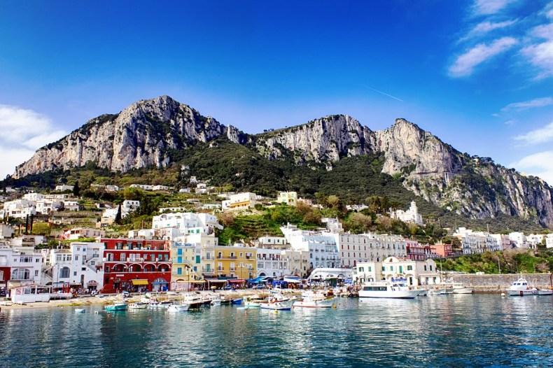 The Capri coast