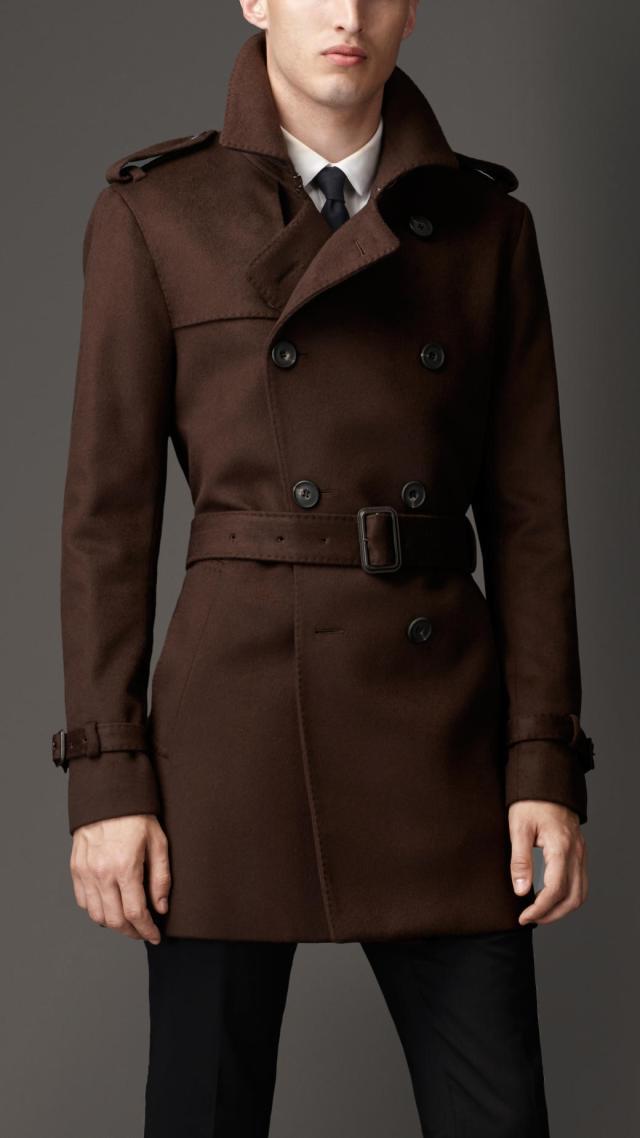 brown trench coat for men - winter trends of 2018