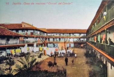 Postal coloreada del Corral del Conde, 1902