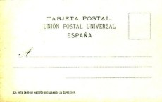Reverso de postal del Corral del Conde, 1900