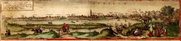 Sevilla, Braun Hogenberg, 1572, Civitates Orbis Terrarum