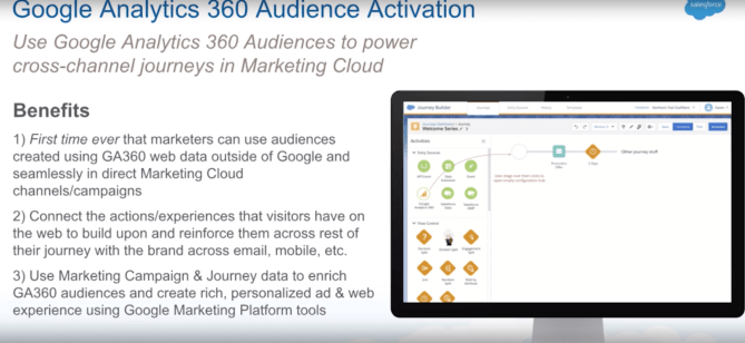 Salesforce Summer 19' Release Notes with example of marketing cloud integration with Google analytics 360
