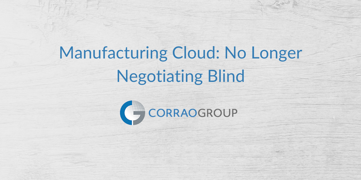 Manufacturing Cloud: No Longer Negotiating Blind