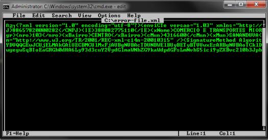 Erro de codificação