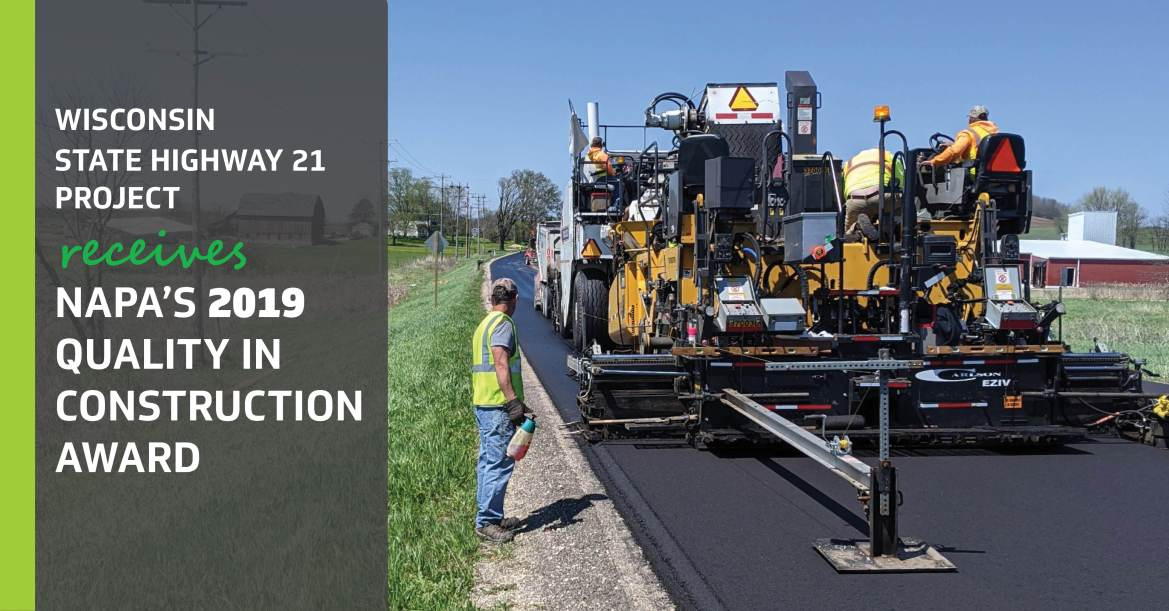 STH 21 NAPA 2019 Quality in Construction Award