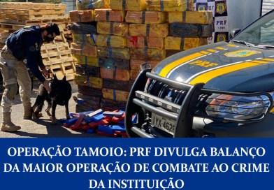 Operação Tamoio: PRF divulga balanço da maior operação de combate ao crime da instituição