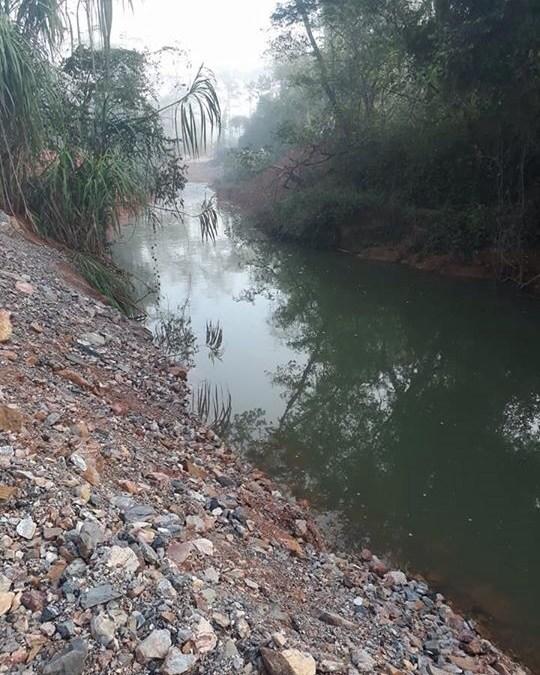 Após mais de um mês, parte do trecho seco do Rio Santa Catarina volta a ter água