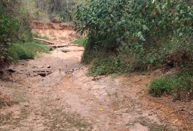 VEJA EM VÍDEO: Empresa 4k Soluções faz sobrevoo na região que a água do Rio Santa Catarina secou