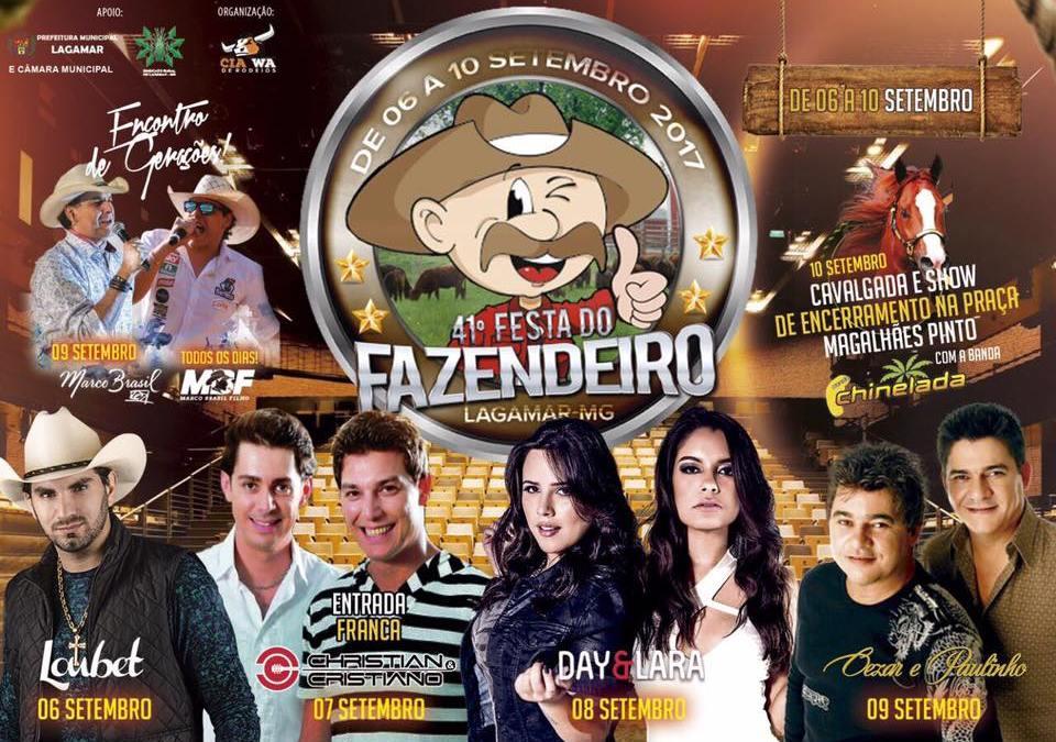 41ª Festa do Fazendeiro de Lagamar fecha lista de shows