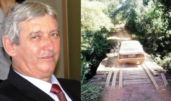 Vereador reinvidica reforma de ponte na Carranca