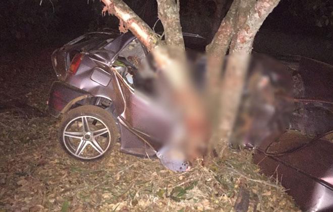 Veículo sai da pista, bate em árvore e mata jovens de 18 anos e de 21 anos
