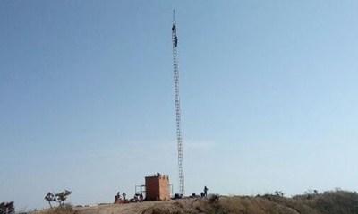 RÁDIO MONTANHEZA FM: Torre de transmissão está sendo montada em Vazante