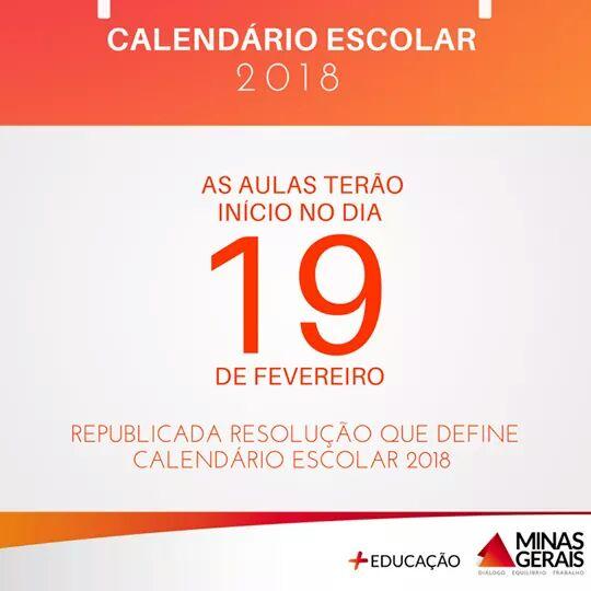 Governo de Minas adia início do calendário letivo de 2018, entenda!