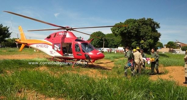Nasce o bebê de Aline, que foi transferida de helicóptero para Goiânia