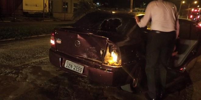 Acidente deixa motociclista ferida na noite de sábado, 28/02 em Morrinhos