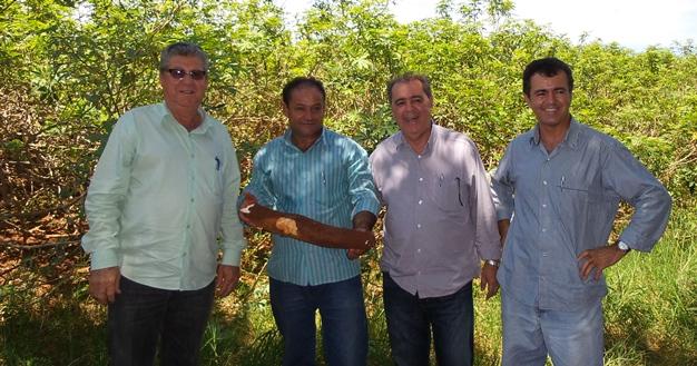 Iniciada plantação de mandioca em programa da agricultura familiar